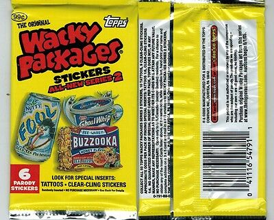 2005 Topps Wacky Packages Unopened Sticker Pack Series 2 Ans From Box