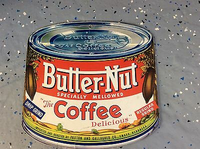Butter-Nut Coffee - Cardboard 2 Sided Advertising Sign