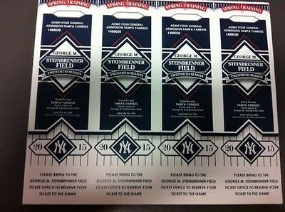 20 Tickets / 80 Admissions Lot  - Tampa Yankees Voucher Coupon ANY GAME SAVE $$