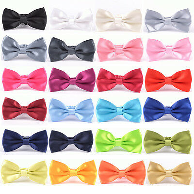 New mens Pre tied satin bowties adjustable bow ties prom wedding formal