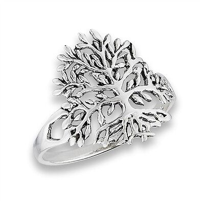 Cool TREE OF LIFE Sterling Silver 925 Unique Ladies Fashion Ring Size 5-9
