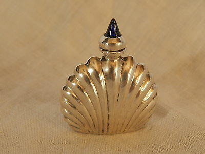 VTG MEXICAN ORMEX STERLING & BLUE AGATE MINI PERFUME BOTTLE