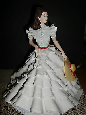 1987 FRANKLIN MINT SCARLETT FROM GONE WITH THE WIND 10 INCH FIGURINE