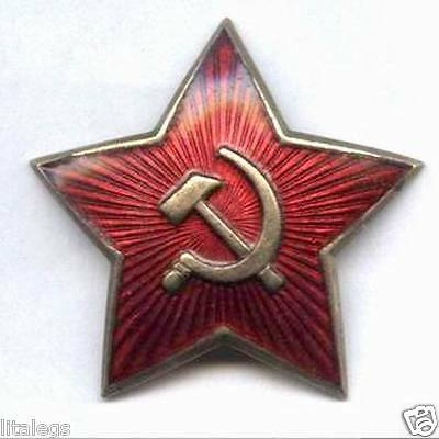 USSR Army Military cap  Hat Badge 1940 's RED STAR WWII  Soviet Russian Officer.