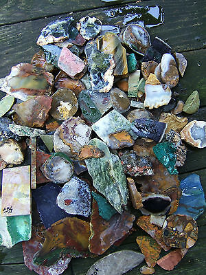 Lot 5 lb Unpolished Uncut Slabbed Tiger Agate Semiprecious Stones Rock Jewelry