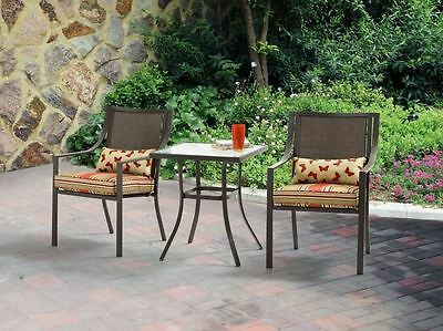 Patio Furniture Outdoor Bistro Set New Table Chairs Garden Deck 3 Piece Cushions