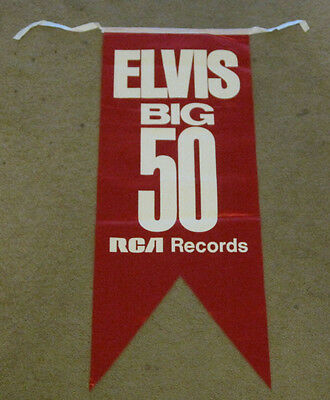Elvis Presley RCA Big 50 Red Banner 1970's Exc
