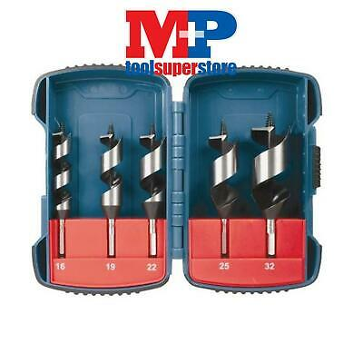 Makita P-67686 Stubby Auger Wood Drill Bit Set In Carrying Case 5Pc