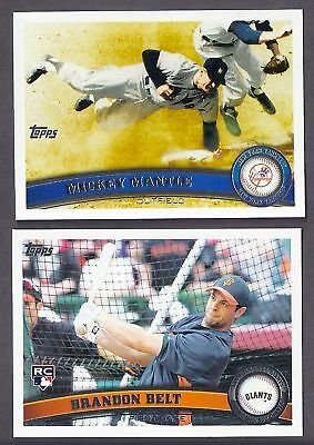2011 TOPPS SERIES 1 & 2 LOT COMPLETE YOUR SET WITH 25 PICKS