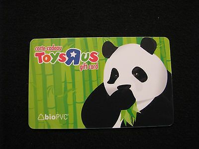 """Toys R Us Panda Gift Card Collectible """"No Value"""" used"""