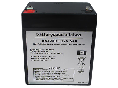 12V 5Ah Casil CA1240 Alarm Back Up Honeywell GE DSC Replacement Battery