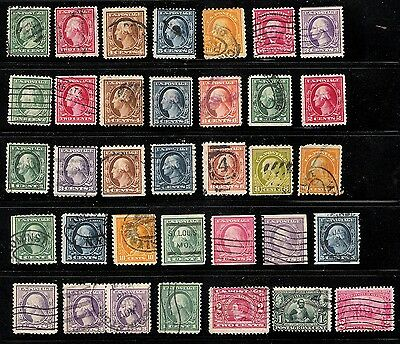 US OLD STAMPS Scott #319~542 (35) USED 10% CV!  All Different Lot of better
