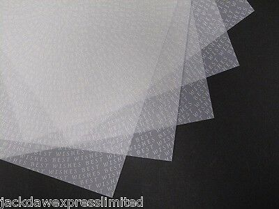Vellum White Printed Best Wishes A4 x 25 Sheets  for Cardmaking Crafts AM520