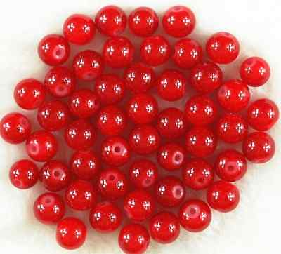 200Pcs 4mm Red Solid Glass Pearl Round Spacer Loose Beads DIY Craft