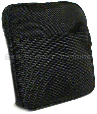"Dell 7"" inch Small Black Durable Media Personal Accessory Travel Pouch Bag Case"