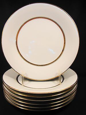 "Set of 7 Noritake China Gloria Pattern Lunch Plates 8 1/4"" dia c. mid 20th c"