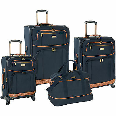 TOMMY BAHAMA MOJITO NAVY BLUE 4 PIECE SPINNER LUGGAGE SET $1280 VALUE
