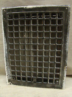 Vintage 1920S Iron Heating Grate Square Design 14 X 10.75