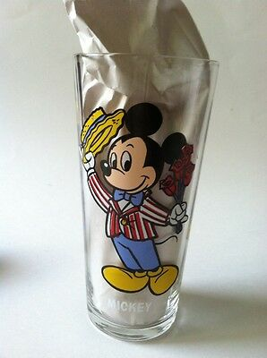 Mickey w/ Roses & Minnie Birthday Pepsi Collector Series Glass Cup Disney 1978
