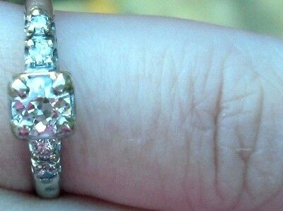 Lovely .48 cttw Antique / Vintage Old European Cut Diamond Engagement Ring!