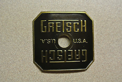 VINTAGE 80's GRETSCH USA SQUARE BADGE for TOM FLOOR SNARE BASS & DRUM SET! #Z20