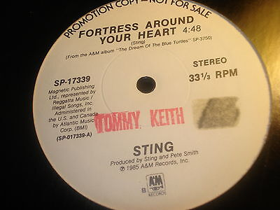 """FORTRESS AROUND YOUR HEART~STING~WHITE LABEL PROMO~SCARCE~POLICE~12"""""""