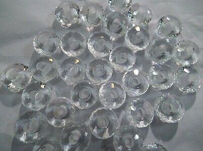 AAA Clear Quarts Fancy Stylist Rondelle Big Hole Beads-8x15 mm 5 mm Hole-12 Piec