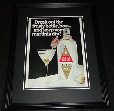 1970 Gilbey's Gin Framed 11x14 ORIGINAL Advertisement