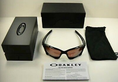 AUTHENTIC OAKLEY PIT BOSS II POLARIZED SUNGLASSES OO9137-03 ROOTBEER/TUNGSTEN