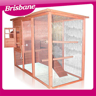 **QLD PICK UP** 2.3m Weatherproof Chicken Coop Hen House Rabbit Hutch
