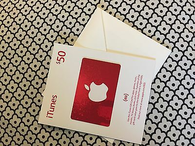 NEW Apple iTunes US gift card $50 voucher certificate w/ free shipping