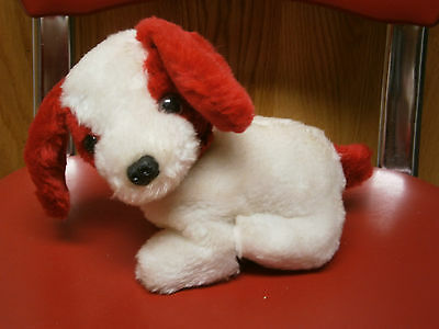 Stuffed Plush Christmas Holiday Red & White Puppy Dog Named SNOWFLAKE by RUSS