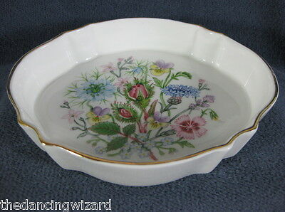 Aynsley Wild Tudor Chatsworth Tray Fine English Bone China Pastel Flowers