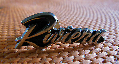 BUICK RIVIERA OLD SCHOOL EMBLEM COLLECTIBLE LAPEL OR HAT PIN - Silver Tone