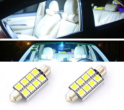 2x White 8SMD 41mm Canbus No Error Car Dome Map LED Light 578 2112 6411 OY-1