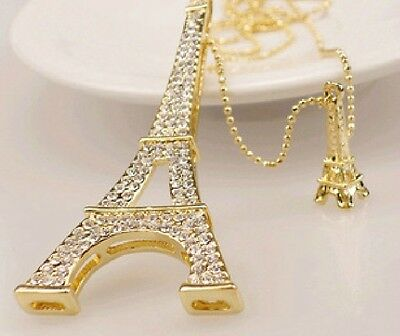 Free shipping Betsey Johnson New Tower crystal pendant necklace N164