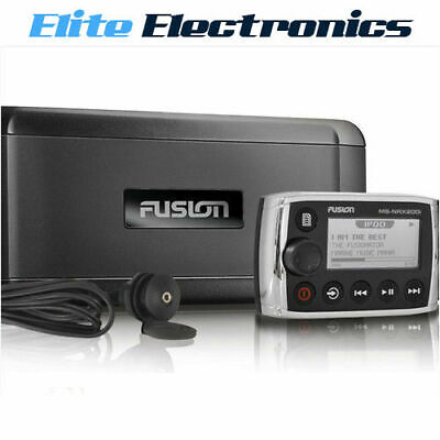 Fusion Ms-Bb300R Marine Black Box W/ Wired Remote Bluetooth Apple Android