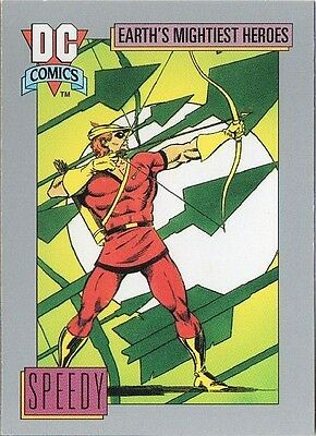 SPEEDY 1991 DC COMICS IMPEL CARD # 75