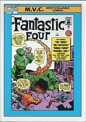 FANTASTIC FOUR # 1 1990 MARVEL COMICS IMPEL CARD # 124