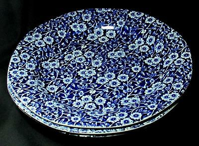 "1960s Burgess & Leigh Burleigh Ware Calico Pattern 3 Dinner Plates 9.5"" England"