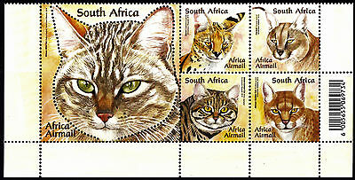 South Africa 2011 Small African Wild Cats Block of stamps, MNH