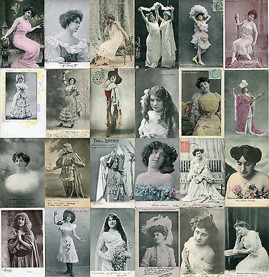 Lot of 24 Vintage French Artist postcards - A036   -    5 DAY AUCTION!
