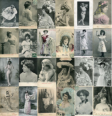 Lot of 24 Vintage French Artist postcards - A037   -    5 DAY AUCTION!