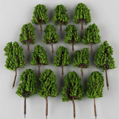 16 Lot MODEL Green PINE TREE for Railroad House Park Scenery Landscape HO SCALE