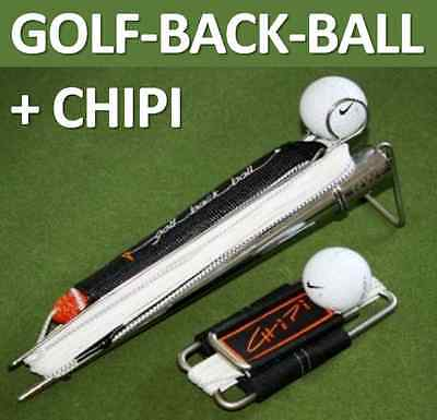 SET - Golf BACKBALL + CHIPI Trainer NIKE Golfball Edelstahl Driving Range +