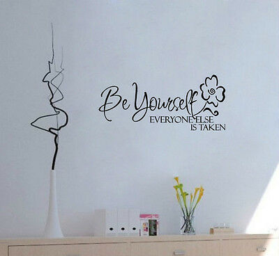 Wall Quote Art Decal Vinyl Sticker Removable Decor Be Yourself Everyone