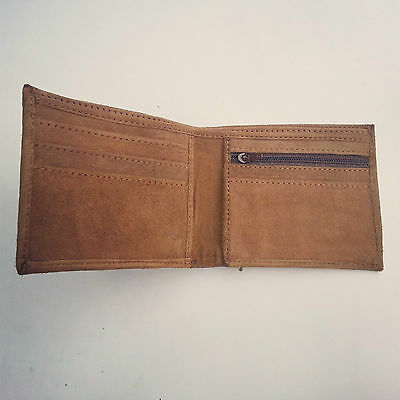 Real goat Lather Wallet, inside also leather purse
