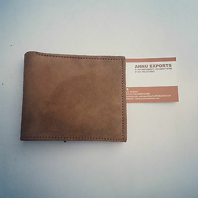 genuine goat Lather Wallet inside also leather Handmade