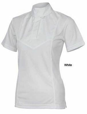 Shires Ladies Short Sleeve Stock Shirt Show Competition Shirt 9994 White or Pink