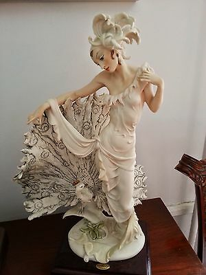 "GIUSEPPE ARMANI ""ISADORA""  WITH PEACOCK, 18 1/2""  MINT CONDITION"